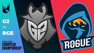 G2 vs RGE - LEC 2020 Spring Split Week 8 Day 1 - G2 Esports vs Rogue