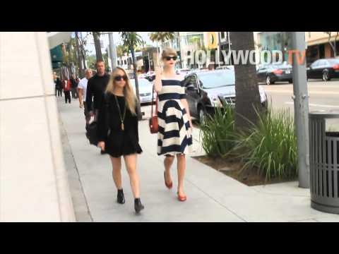 Taylor Swift walks down Rodeo Drive