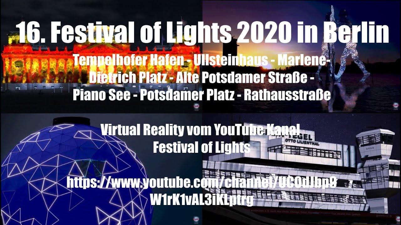 16. Festival of Lights 2020 in Berlin - Tag 2 (Tempelhofer Hafen, Marlene Dietrich Platz ...)