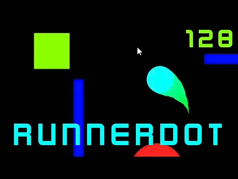 RunnerDot (PC) Gameplay - Score: 128 points