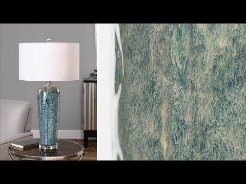 Uttermost Maira Blue Table Lamp