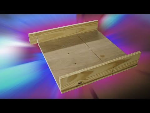 Making a Terrible Table Saw Sled in a Terrible Way
