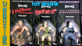 UNBOXING! Funko Savage World Review Freddy Kreuger Jason Voorhees Michael Meyers Pinhead Leatherface