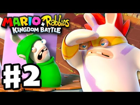 Mario + Rabbids Kingdom Battle - Gameplay Walkthrough Part 2 - Smashers! Pinheads in Pursuit!