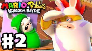 Mario + Rabbids Kingdom Battle - Gameplay Walkthrough Part 2 - Smashers! Pinheads in Pursuit!