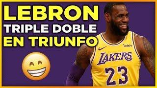 LeBron James Triple doble ayuda Lakers vs Kings | Jason Kidd con Lakers ?? | NBA Lakers En Español