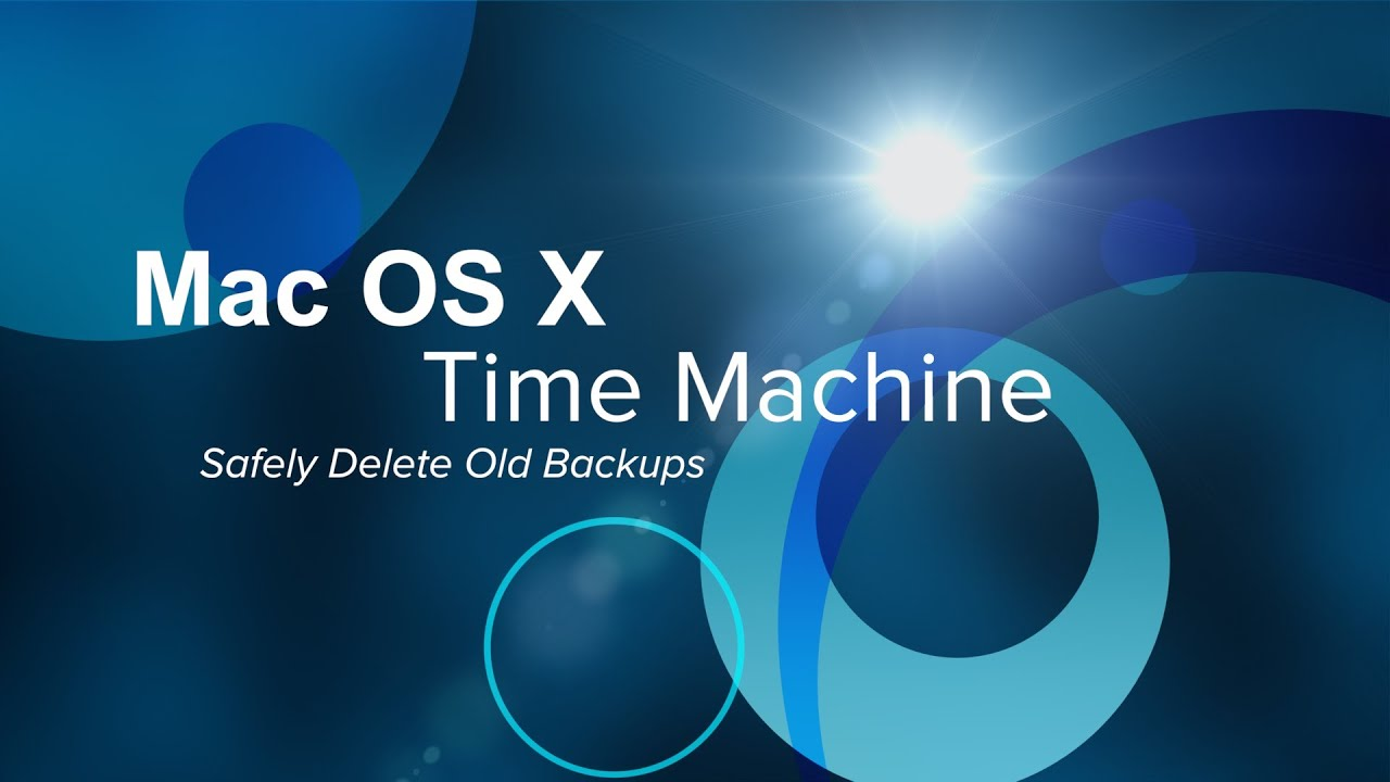 how to delete old backups on mac
