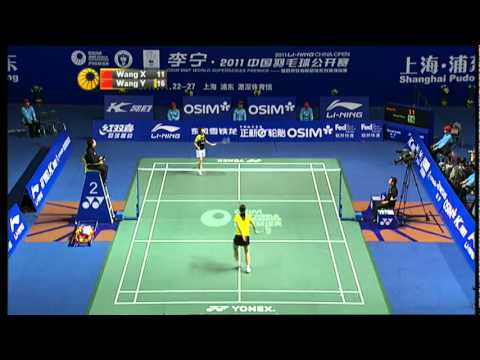 Final -WS - Wang Y. vs. Wang X.- Li-Ning China Open 2011