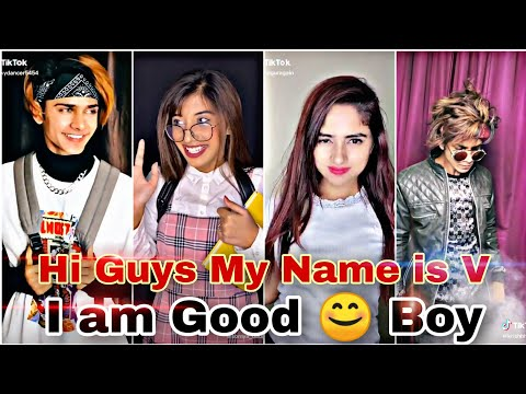 Hii guys my name is v   I'm good boy tiktok video   My name is v tik tok trending song