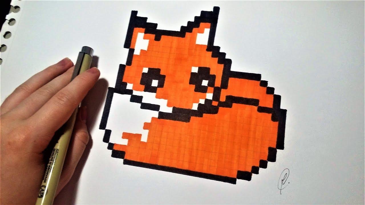 Dessin Renard Kawaii Pixel Art Facile