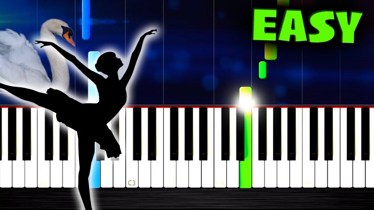 Tchaikovsky swan lake theme easy piano tutorial by plutax