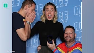 Captain Marvel Fan Proposes In Front Of Brie Larson