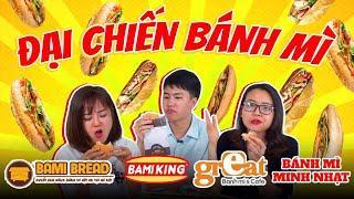 HÔM NAY ĂN GÌ - BÁNH MÌ ĐẠI CHIẾN #1: Bami Bread, Minh Nhạt, Great,...