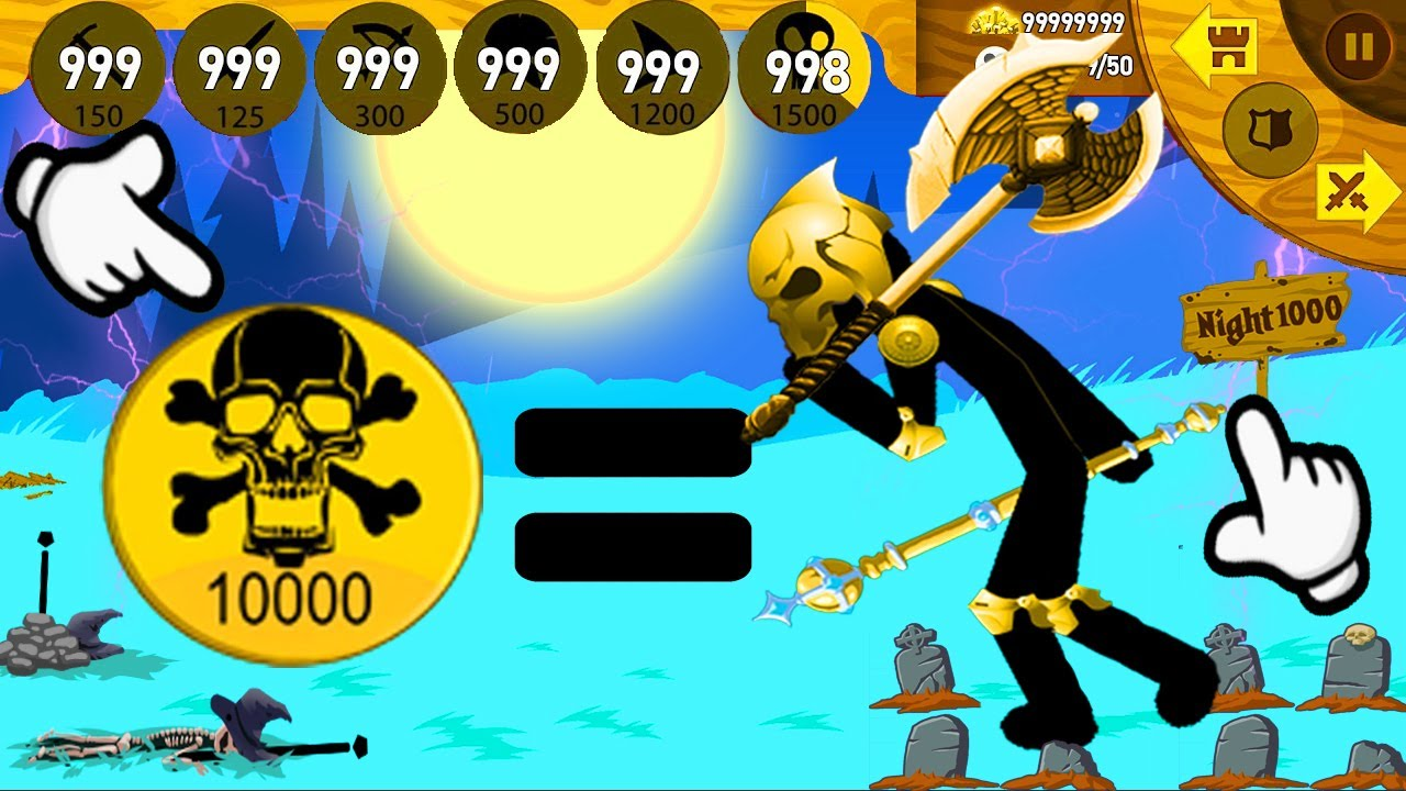 New Icon Giant Boss But Summon Giant Golden go to Night 1000 | Stick War Legacy Fight