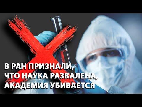 В РАН признали, что наука развалена, Академия убивается