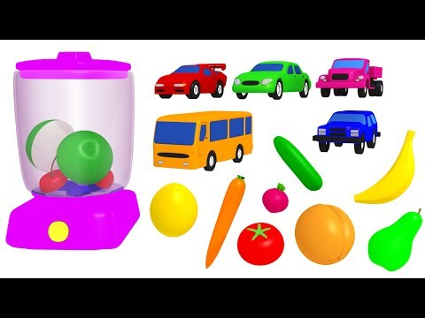 Thumbnail: Learn Colors with Blender Fruit Cutting for Kids - Cars Color for Babies