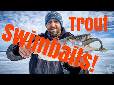 Ice Fishing Lake Trout And Splake On Chequamegon Bay Lake Superior (Swimbait Secrets!)