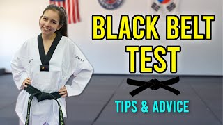 Tips for Preparing for Your Black Belt Test