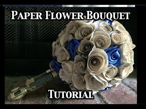 Permalink to Paper Flower Bridal Bouquet Tutorial