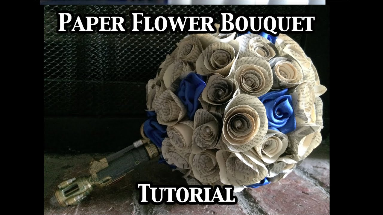 Paper flower bouquet tutorial youtube izmirmasajfo