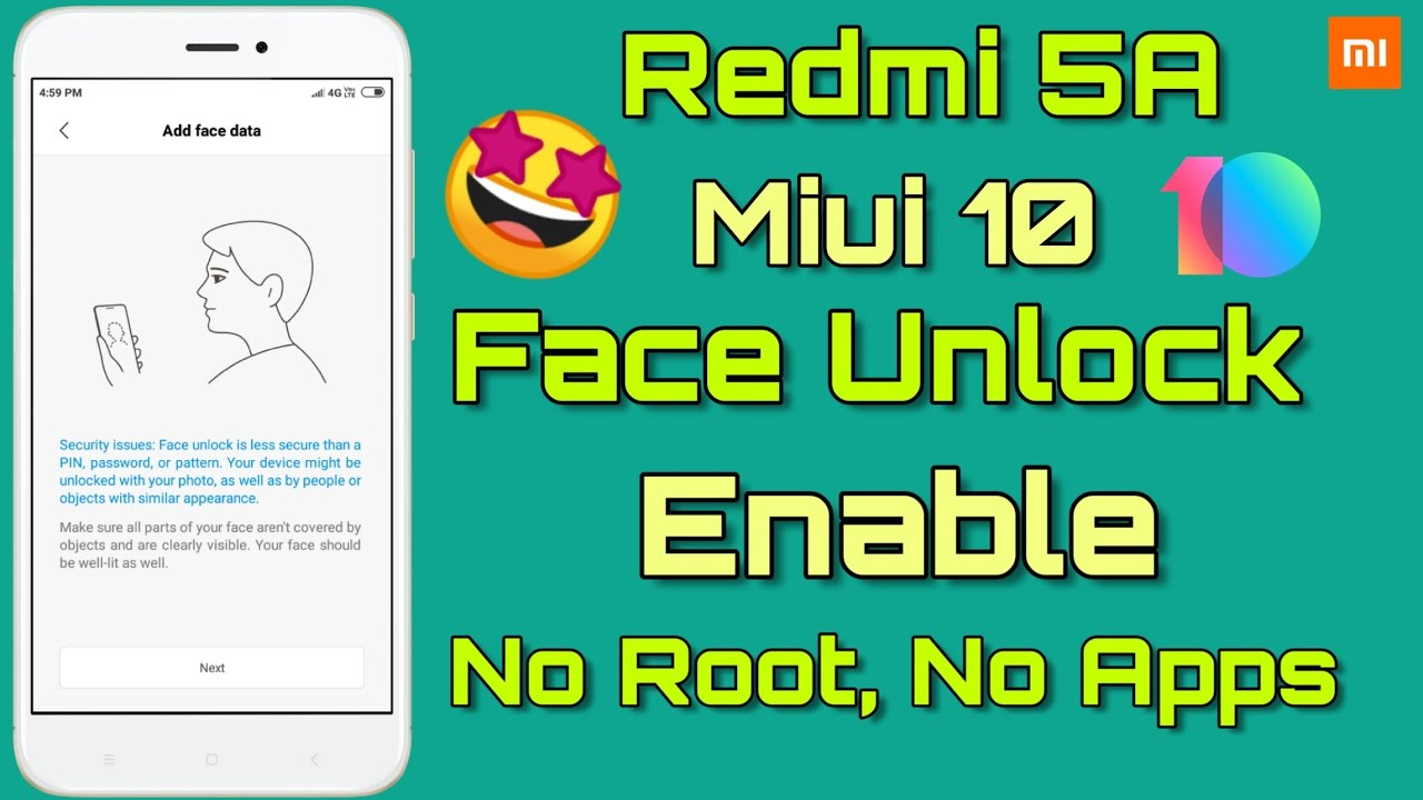 Redmi 5A Miui 10 9 4 11 For Xiaomi EU Rom - Face Unlock