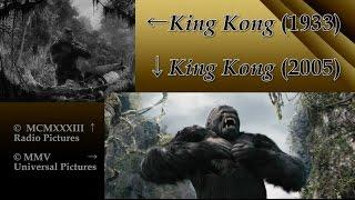 King Kong: Side-by-Side (1933 Film/2005 Film Comparison)