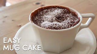 누텔라 머그케이크(스푼계량),  easy mug cake recipe, マグケーキ