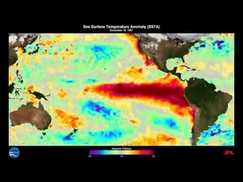 1997 1998 El Niño Southern Oscillation ENSO Sea Surface Temperature Anomalies SSTA