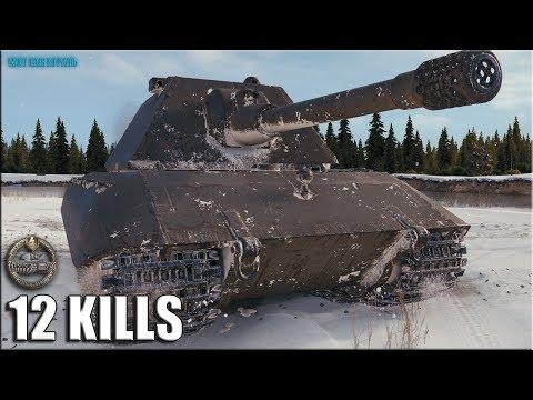 E 100 Колобанов, 12 фрагов World of Tanks