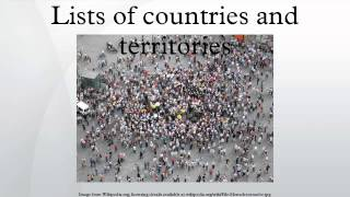 Lists of countries and territories