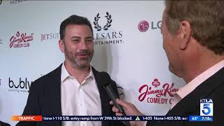 Sam & BFF Jimmy Kimmel Chat it Up at the Opening of his New Vegas Comedy Club