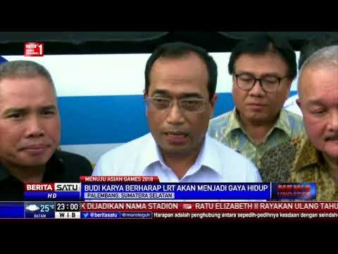 Menhub Serahkan 2 Trainset LRT di Palembang