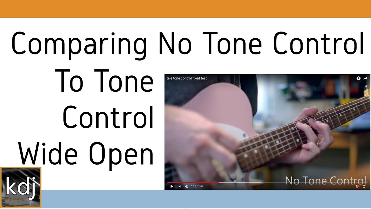 hight resolution of comparing a tele with no tone control to tone control wide open