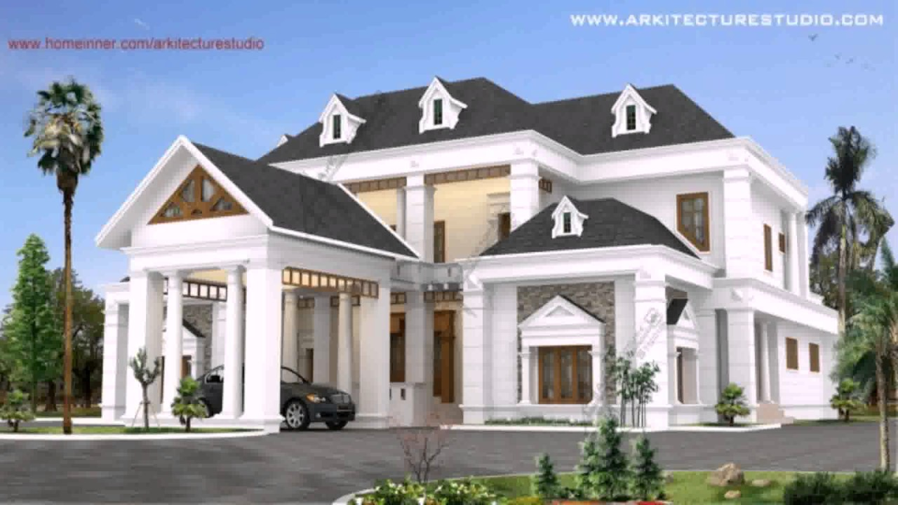 House design colonial style youtube for Colonial style