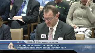 3/11/19 Jason Tarasek, Marijuana Policy Project, testifies in support of SF 619