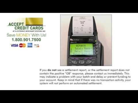 Batching Verifone Vx510LE terminal-- How to settle a credit card machine batch