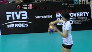 วอลเลย์บอลหญิงไทย - จีน (1)