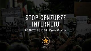 PROTEST #STOPACTA2 WROCŁAW z Nastem!