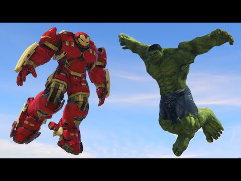 HULK vs HULKBUSTER MOD! (GTA 5 Mod Funny Moments)