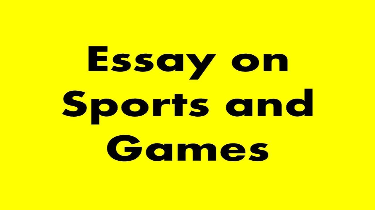 Sportsmanship essays