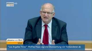 Datenschutz: Forderungen des Datenschutzbeauftragten am 29.10.2013