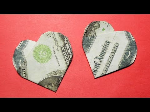 EASY AND SIMPLE ORIGAMI | Money HEART | Dollar Tutorial DIY