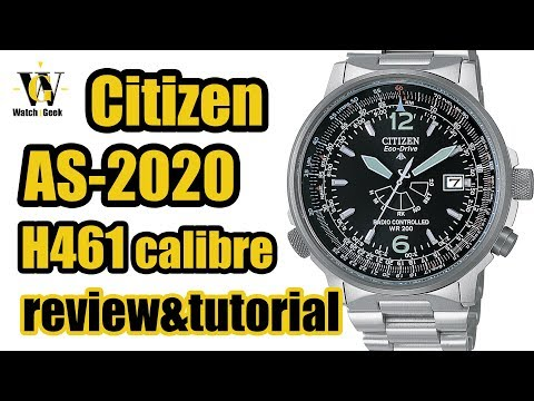 Citizen AS 2020 Atomic Nighthawk - H461 Caliber - review & tutorial on how to setup and use