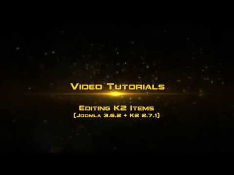 What No Website, How To :: Editing K2 Items (Joomla V3.6.2 And K2 V2.7.1)