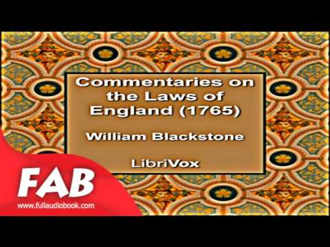Commentaries on the Laws of England 1765 Part 1/2 Full Auido