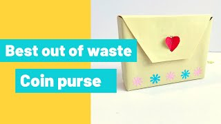 paper purse gift bag easy without glue | Best out of waste | coin purse from waste