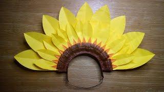 DIY FLOWER HEADDRESS SUNFLOWER FESTIVAL HEADPIECE