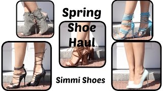 Sexy Spring Shoe Haul   Simmi Shoes Plus STORYTIME