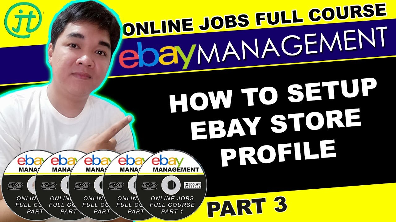 How To Set Up Store Ebay Profile Work From Home Online Jobs Part 3