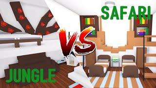 Parrot VS Jirafa o Jungle VS Safari BEDROOM Ideas de Diseño > Roblox Adoptarme
